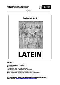 Fachbrief Nr. 4 LATEIN