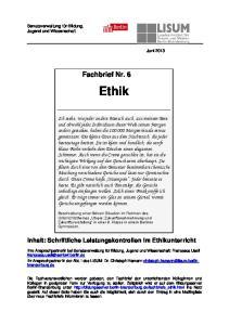 Fachbrief Nr. 6. Ethik