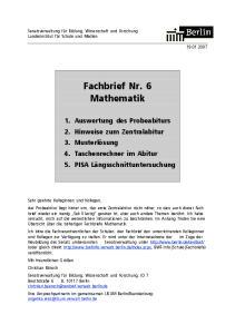 Fachbrief Nr. 6 Mathematik