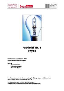 Fachbrief Nr. 8 Physik