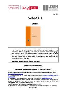 Fachbrief Nr. 9. Ethik