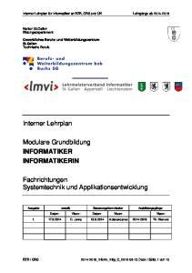 Fachrichtungen Systemtechnik und Applikationsentwicklung