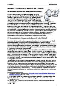 Fachskript : Ganzschriften in der Mittel- und Unterstufe