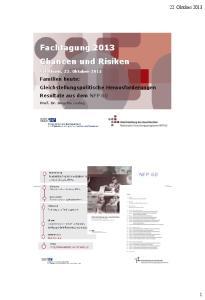Fachtagung 2013 Chancen und Risiken
