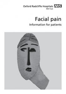 Facial pain. Information for patients