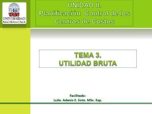 Facilitado: Lcdo. Adenis E. Soto. MSc. Esp