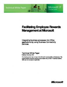 Facilitating Employee Rewards Management at Microsoft