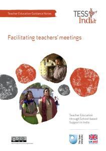 Facilitating teachers meetings