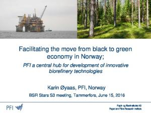Facilitating the move from black to green economy in Norway;