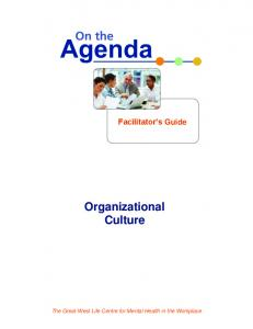 Facilitator s Guide Organizational Culture