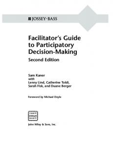 Facilitator s Guide to Participatory Decision-Making