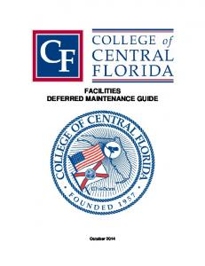 FACILITIES DEFERRED MAINTENANCE GUIDE