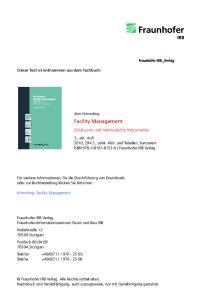 Facility Management. Strukturen und methodische Instrumente