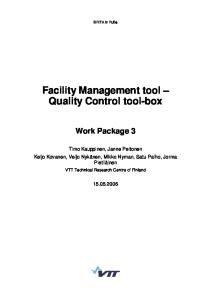 Facility Management tool Quality Control tool box