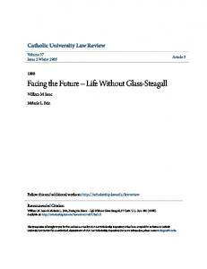 Facing the Future Life Without Glass-Steagall