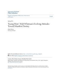 'Facing West': Walt Whitman's Evolving Attitudes Toward Manifest Destiny