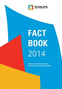 FACT BOOK. Nurturing tomorrow s leaders.. Growing the knowledge economy