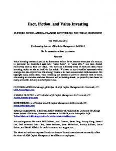 Fact, Fiction, and Value Investing
