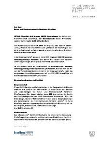 Fact Sheet Kultur- und Kreativwirtschaft in Nordrhein-Westfalen