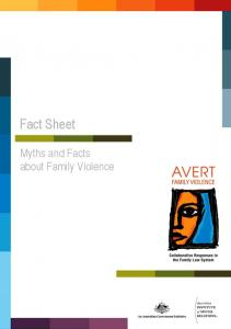 Fact Sheet. Myths and Facts about Family Violence