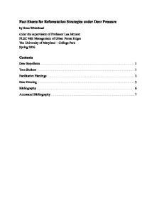 Fact Sheets for Reforestation Strategies under Deer Pressure