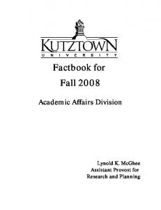 Factbook for Fall 2008