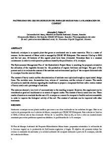 FACTIBILIDAD DEL USO DE LECHUGUIN DEL EMBALSE MAZAR PARA LA ELABORACION DE COMPOST
