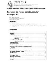 Factores de riesgo cardiovascular emergentes