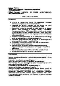 FACTORES DE RIESGO CARDIOVASCULAR. SINDROME METABOLICO