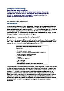 Factores de riesgo de carcinoma hepatocelular importantes