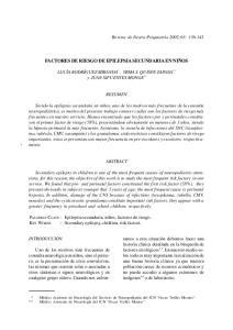 FACTORES DE RIESGO DE EPILEPSIA SECUNDARIA EN NIÑOS