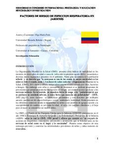 FACTORES DE RIESGO DE INFECCION RESPIRATORIA EN JARDINES