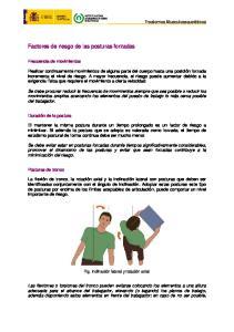 Factores de riesgo de las posturas forzadas