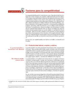 Factores para la competitividad