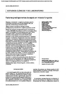 Factores predisponentes de sepsis en micosis fungoide