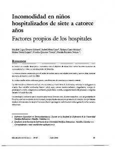 Factores propios de los hospitales
