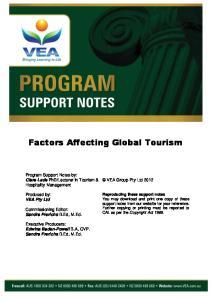 Factors Affecting Global Tourism