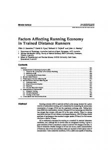 Factors Affecting Running Economy in Trained Distance Runners