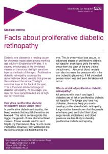 Facts about proliferative diabetic retinopathy