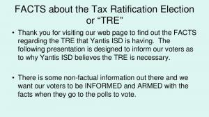 FACTS about the Tax Ratification Election or TRE