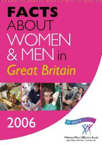 Facts about. women & men in. Great Britain