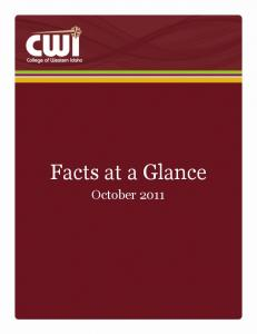 Facts at a Glance October 2011