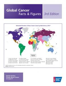 Facts & Figures 3rd Edition. Estimated Number of New Cancer Cases by World Area, 2012* Worldwide* 14,090,100