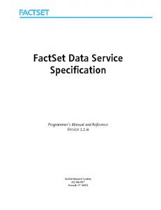 FactSet Data Service Specification