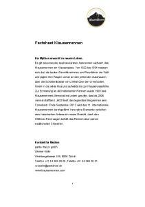 Factsheet Klausenrennen