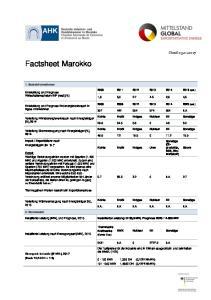 Factsheet Marokko. Stand Basisinformationen (est.)