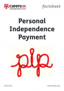 factsheet Personal Independence Payment