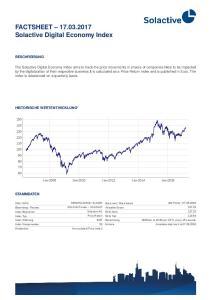 FACTSHEET Solactive Digital Economy Index
