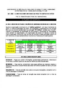 FACULDADE DE ARQUITETURA E URBANISMO DEPARTAMENTO DE TECNOLOGIA DA ARQUITETURA