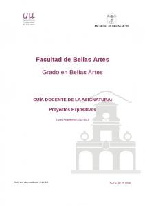 Facultad de Bellas Artes